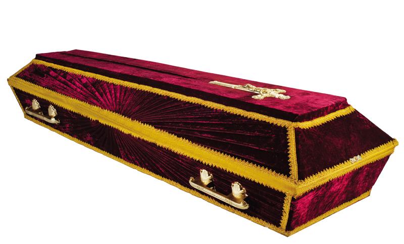 Гроб «Луч бархат»