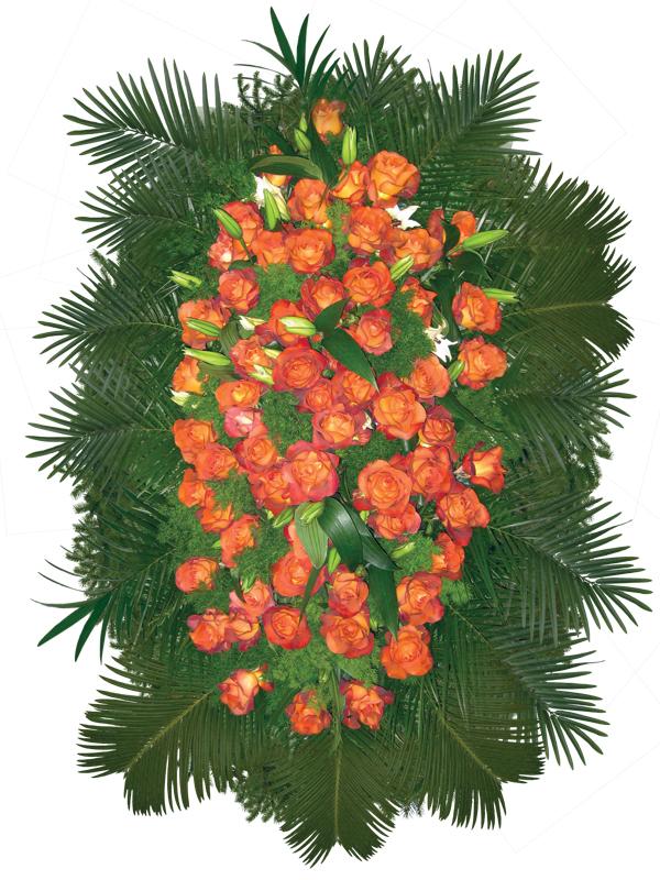 Венок из живых цветов 03