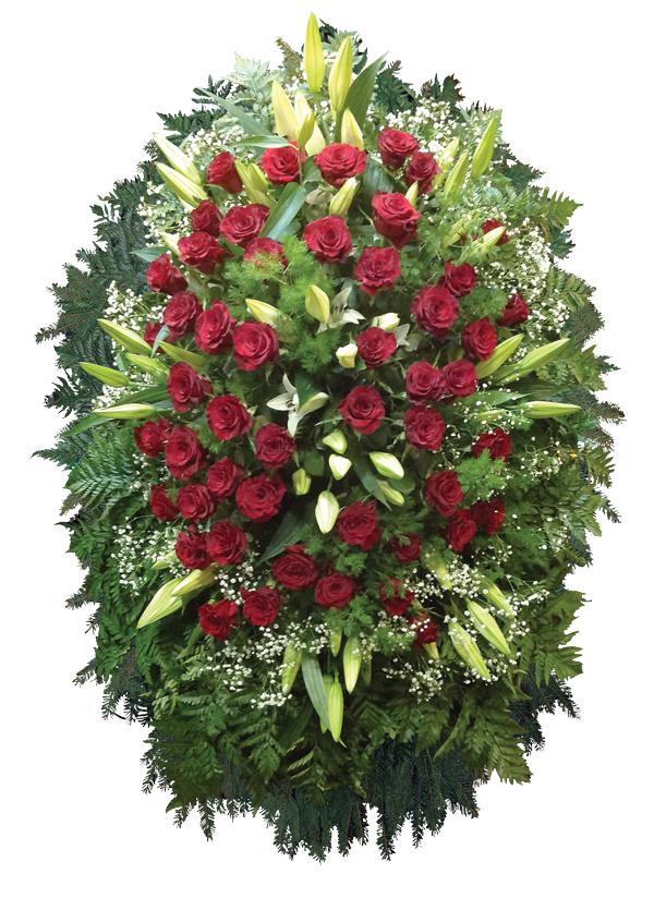 Венок из живых цветов 12